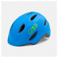 Giro Scamp MIPS Cycling Helmet (Matte Blue/Lime / Kid's / Small Size)