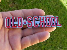 ~ OLD SCHOOL CAR EMBLEM RED *BRAND NEW* Suit Chevrolet Camaro Impala Bel Air