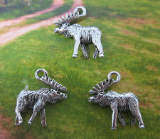 Free shipping 15pcs retro style lovely Moose alloy charms pendants 18*16mm