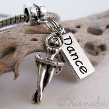 Ballet Dancer, Dance European Charm Bead For Charm Bracelets - Gift For Dancers