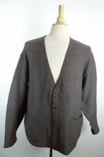 EXCELLENT Paul Smith England BROWN WOOL V CARDIGAN SWEATER M L classic