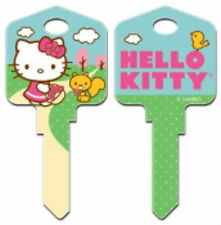 "HELLO KITTY "" SPRINGTIME "" House Key Blank Kw1 Kwikset SANRIO REVERSABLE"