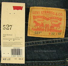 Levis 527 Jeans Mens New Slim Boot Cut Size 32 x 32 OVERHAUL Levi's #541