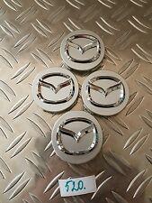 Mazda Llantas De Aleación Centro Tapacubos cromado con el logotipo de Plata 56MM