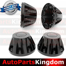"11-16 GMC Sierra DUALLY Model BLACK 17"" 2x REAR set Wheel Center Hub Cap Cover"