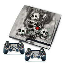 for PlayStation 3 Slim PS3 Console + Controller Skins Terrible Death Sticker