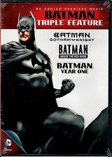 NEW DVD // BATMAN TRIPLE FEATURE// GOTHAM KNIGHT + UNDER THE RED HOOD + YEAR ONE