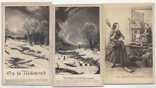 CDV STYLED CIVIL WAR POLITICAL CARTOONS, SET OF THREE IMAGES.