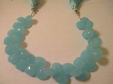 8 Pieces Faceted  Genuin Blue Chalcedony Beads 10x10x5.5 mm   DBC