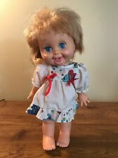 Galoob Baby Face Doll So Playful Penny #10 Honey Blond Blue Eyes