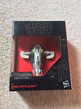 Star Wars The Black Series Titanium Jango Fett's Slave 1 #27 Very Rare Die Cast