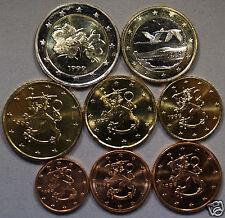 manueduc   FINLANDIA  1999   Las  8  monedas  NUEVAS