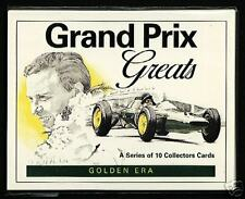 GRAND PRIX GREATS - Collectors Card Set - Senna Fangio Moss Clark Hill Formula 1