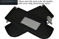 BLUE STITCHING FITS VW BEETLE 1998-2011 2X SUN VISORS LEATHER COVERS ONLY