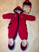 Gusti Baby Red 4Pc Snowsuit 30 months Boys/Girls