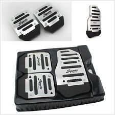 3 Pcs Manual Aluminium Car Nonslip Brake Clutch Pedal Plates Cover Set Footrests