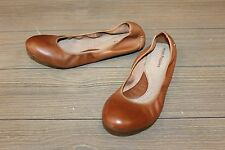 Hush Puppies Women's Chaste Ballet - Cognac Leather - Size 10 M