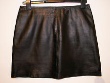 Oasis real leather mini skirt butter soft size 12