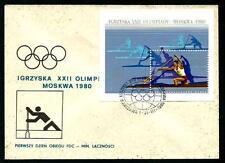 Polonia 1980 - Olimpiadi - Canoa -  FDC