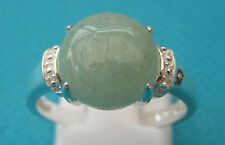 925 Sterling Silver Beautiful Ring With Green Onyx UK N 1/2, US 7 (rg2691)