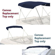"BIMINI TOP BOAT COVER CANVAS FABRIC NAVY W/BOOT FITS 4 BOW 96""L 54""H 73""-78""W"