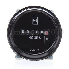 "2"" Round Hour Meter For Cart Marine Boat Tractor Generator Engine Mower 10-80V"