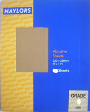 "Naylors P120 Grit Glass (Sand) Paper - 3 x 230mm (9"") x 280mm (11"") Sheets"