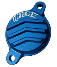 REC MX Blue Billet Oil Filter Cover 2010-2017 Yamaha YZ450F & 2014-2017 YZ250F
