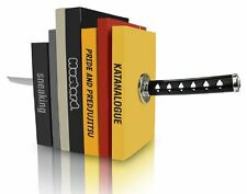 Novelty Katana Bookends - Magnetic Ninja Sword Decorative Bookshelf Ornaments uk