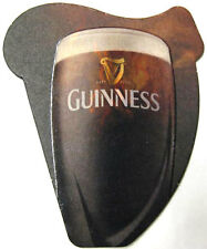 GUINNESS MADE OF MORE odd-shaped Stout Beer COASTER, Mat with HARP, IRELAND 2013