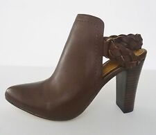 NIB Corso Como Williamsburg Braided Strap Bootie Heel  8.5 M Chestnut Brown $178