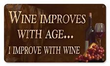 Wine Decor Bottle Metal Sign Kitchen Den Cafe Diner Resturaunt Pub Bar pts596