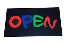 "Bright, Flashing & Colourful ""OPEN"" Neon LED Display Window Shop Sign UK Stock"