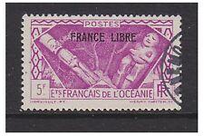 Oceanic Settlements - 1941, 5f Magenta Optd stamp - F/U - SG 143