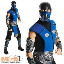 Sub-Zero Mortal Kombat Mens Fancy Dress 1990s Costume Adult Outfit + Mask