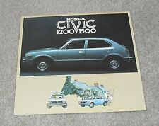 Honda Civic 1200 & 1500 Brochure 1976