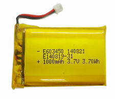 3.7V 1000mAh Li-polymer Lipo battery 603450 for MID PDA mp3 4 GPS with connector