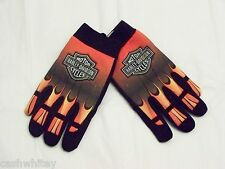 Mens HARLEY DAVIDSON Motorcycles REFLECTIVE Riding Driving Mechanic Work Gloves