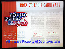 ST LOUIS CARDINALS 1982 WORLD SERIES PATCH Willabee Ward CHAMPIONSHIP COLLECTION