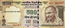 INDIA 500 RS Tactile Mark Novel Numbering 2015 L Inset Paper Money Note UNC NEW