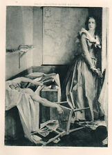 1894 Antique Engraving Charlotte Corday Murder of Marat French Revolution