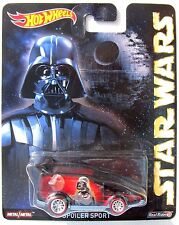 HOT WHEELS NOSTALGIA POP CULTURE STAR WARS (Darth Vader)  SPOILER SPORT RLT