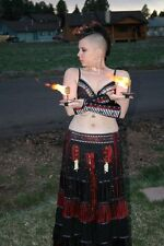 PALM TORCHES, PAIR - KEVLAR BELLY DANCE FIRE CANDLE POI STAFF CIRCUS BURLESQUE