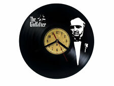 Vinyl record wall clock, The Godfather design bedroom playroom office home art