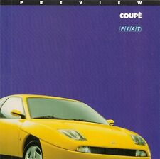 Fiat Coupe 1994-95 UK Market Preview Foldout Sales Brochure 16v & Turbo