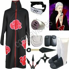 Naruto Akatsuki cloak Hidan Cosplay Costume set Anime