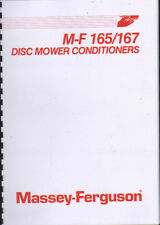 Massey Ferguson 165 & 167 Tractor Disc Mower Conditioner Operator Manual Book