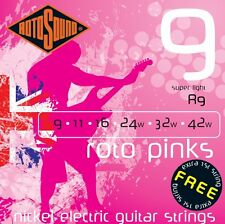 ROTOSOUND R9 ROTO PINKS SUPER LIGHT ELECTRIC GUITAR STRINGS 9-42 2 PACKS