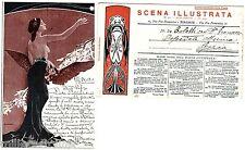 """#25.12 1903-C. DI AUGURI NATALIZI DELLA """"SCENA ILLUSTRATA""""-dis. E. GIOVANNOZZI"""