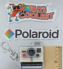 Worlds Coolest Smallest POLAROID LAND CAMERA Toy Miniature Mini OneStep Keychain